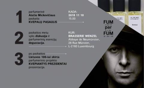 """Aisčio Mickevičiaus paskaita """"KVEPALŲ PASAULIS"""""""