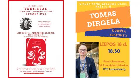 Vasarai įsibėgėjus kviečiame į net du (!) susitikimus su populiariais Lietuvos rašytojais!
