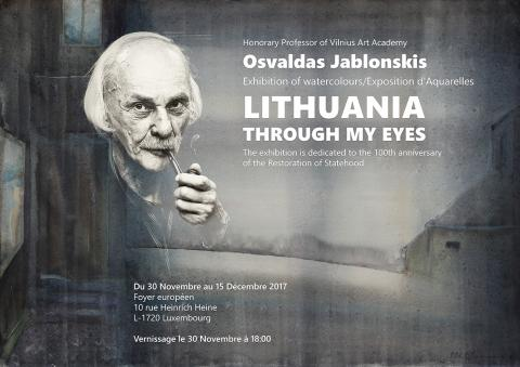 """O. Jablonskio akvarelių paroda """"Lietuva mano akimis"""""""