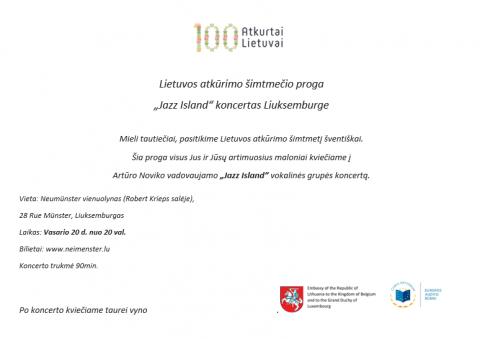 Lietuvos atkūrimo šimtmečio minėjimas Liuksemburge