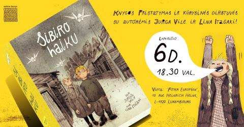 """Knygos """"Sibiro haiku"""" pristatymas ir kūrybinės dirbtuvės"""