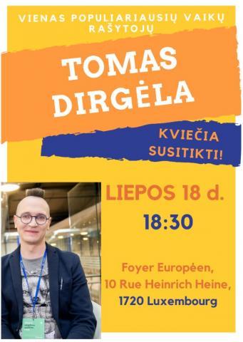 Susitikimas su vaikų rašytoju Tomu Dirgėla
